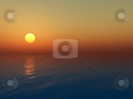 Sea sunset stock photo,  by Andranik Khlgatyan