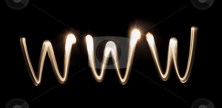 WWW stock photo, WWW = World Wide Web written with a flashlight by Stocksnapper