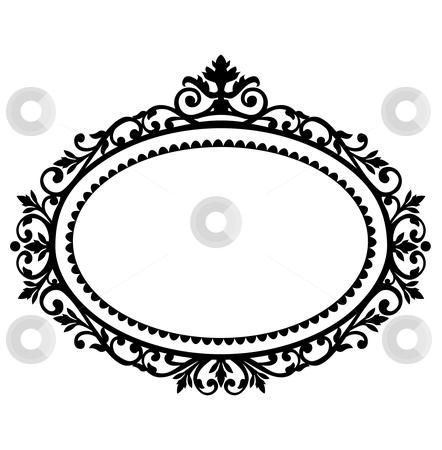 Decorative frame stock vector clipart, Decorative black frame on the retro background with space for your text, full scalable vector graphic for easy editing and color change, included Eps v8 and 300 dpi JPG by Ela Kwasniewski
