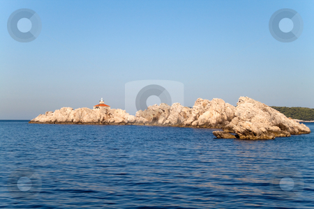 Rocky Island stock photo, A scenic coast line in Dubrovnik, Croatia by Kevin Tietz