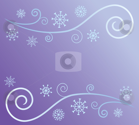 Wind and Snow Abstract stock vector clipart, Stylized depiction of wind and snow. by Jamie Slavy