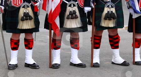 Scottish Uniforms stock photo, English uniforms at the with their bright colors by Henrik Lehnerer