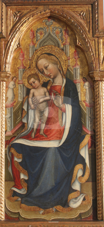 Virgin Mary with baby Jesus  stock photo,  by Zvonimir Atletic