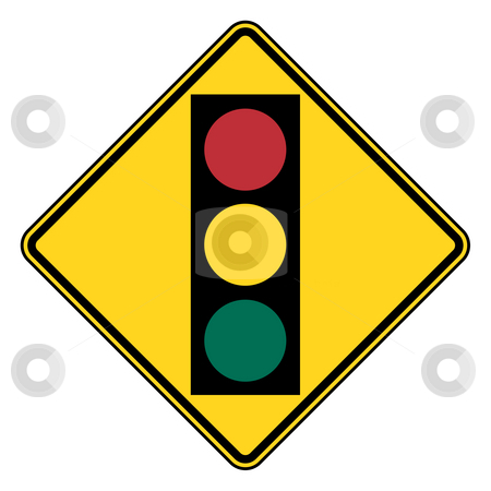 Traffic light signal sign stock photo, Traffic light signal sign isolated on white background. by Martin Crowdy