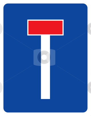 Dead End road sign stock photo, Dead End road sign isolated on white background. by Martin Crowdy
