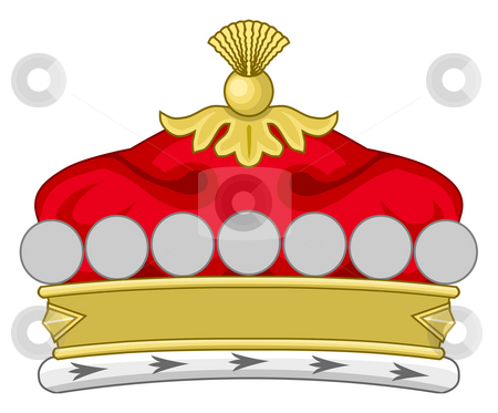 Royal crown stock photo, Crown of royal monarch, isolated on white background. by Martin Crowdy