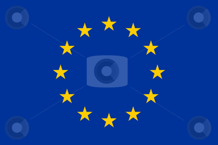 European Union flag stock photo, Illustration of European Union flag in official colors. by Martin Crowdy