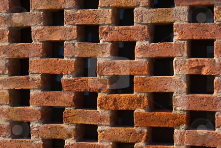 Ziegelwand - Brick wall stock photo, Ziegelwand - Brick wall by Wolfgang Heidasch