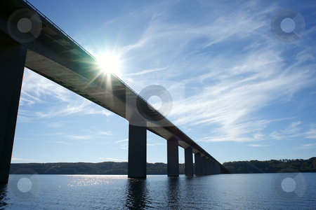 Bridge stock photo, Vejle Fjord Bridge, Denmark by Kasper Nymann