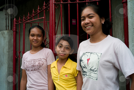 Teenage Filipino girls stock photo, Teenage Filipino girls, Cebu ...