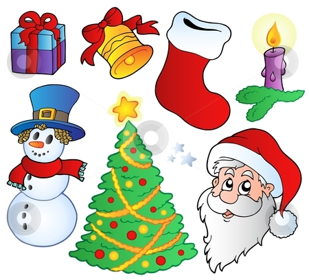 Various Christmas images stock vector clipart, Various Christmas images - vector illustration. by Klara Viskova