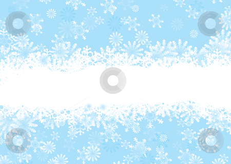 Christmas snowflake blue stock vector clipart, Snowflake christmas background with white snow flake banner by Michael Travers