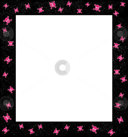 Skulactic skully stock photo, Frame or border for collage and scrapbook crafts by Todd Amen
