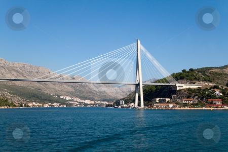 Franjo Tudjman Bridge stock photo, The Franjo Tudjman Bridge in Dubrovnik, Croatia by Kevin Tietz