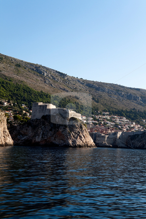 Scenic Coast stock photo, A scenic coast line in Dubrovnik, Croatia by Kevin Tietz