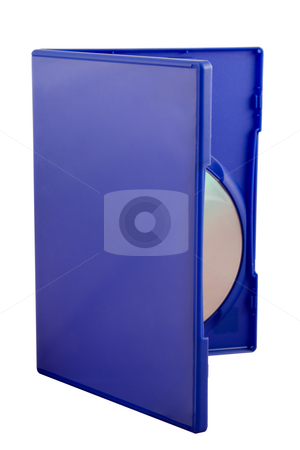 DVD Cover stock photo, DVD Cover isolated over white background with copyspace by Jo De Vulder