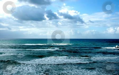 Winter Mediterranean sea stock photo, Winter Mediterranean sea in Bat-Yam, Israel by Tatjana Keisa