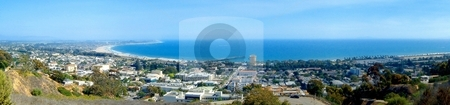 Ventura Ocean View stock photo, Panoramic view of Ventura with the ocean in the background by Henrik Lehnerer