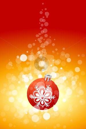 Christmas background with sparkles stock vector clipart, Christmas background with sparkles and Christmas ball for your design by Vadym Nechyporenko