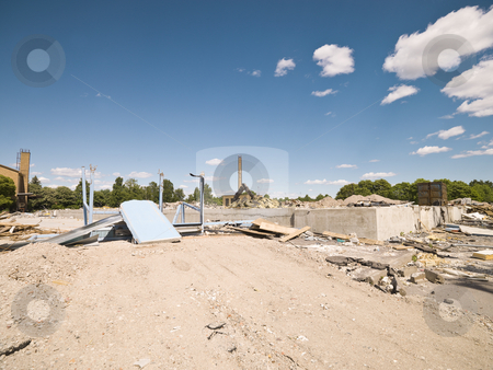 Demolished Neighbourhood stock photo, Demolished Neighbourhood on a sunny day by Anne-Louise Quarfoth