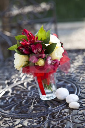 Wedding bouquet stock photo, Wedding bouguet with short focal depth by Anne-Louise Quarfoth