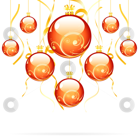 Christmas balls stock vector clipart, Isolated Christmas balls with decorations for your design by Vadym Nechyporenko