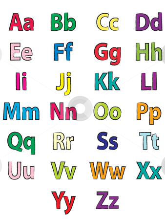 Alphabet Clipart For Kids Alphabet coloring stock vector