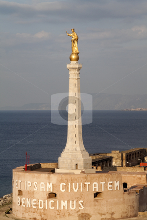 Messina Madonna Statue stock photo, The statue of Madonna in the port of Messina, Italy by Kevin Tietz