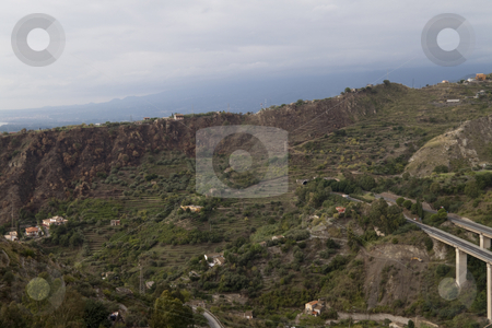 Tier Hills stock photo, Looking over the overcast hills of Messina, Italy by Kevin Tietz