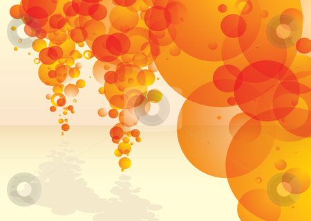 Bubble tastic citrus stream stock vector clipart, Orange bubble concept background with copy space and shadow by Michael Travers