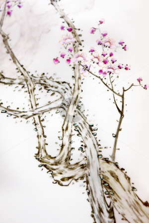 Ancient Traditional Artistic Plum Blossom Pattern  stock photo, Ancient Traditional Artistic Plum Blossom Pattern . by Keng po Leung