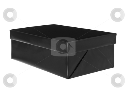 Black and white present stock photo, Black and white present isolated on white background by Anne-Louise Quarfoth