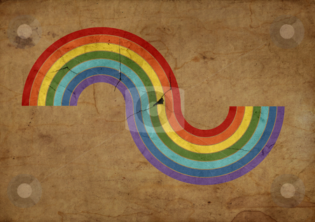 Raibow illustration stock photo, Grunge background with a colored raibow illustration by ikostudio