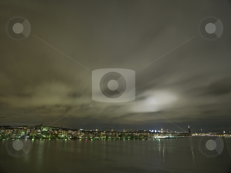 Stockholm City skyline stock photo, Stockholm City Skyline at night by Anne-Louise Quarfoth
