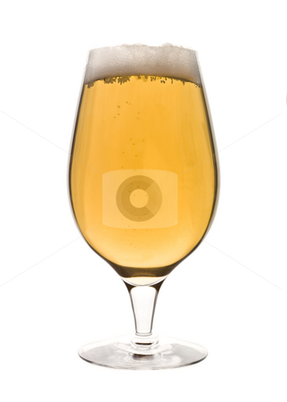 Glass of beer stock photo, Glass of beer by Anne-Louise Quarfoth