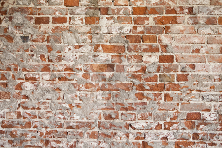 Worn brickwall stock photo, Worn brickwall by Anne-Louise Quarfoth