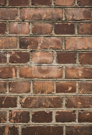 Worn brick wall stock photo, Worn brick wall by Anne-Louise Quarfoth