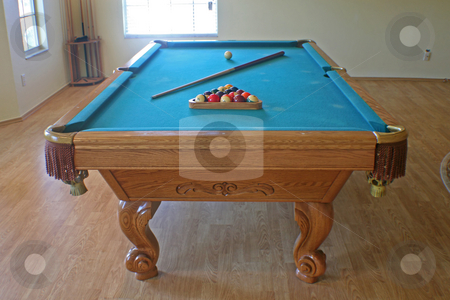 Pool Table stock photo, An Interior in a house with Pool Table by Lucy Clark