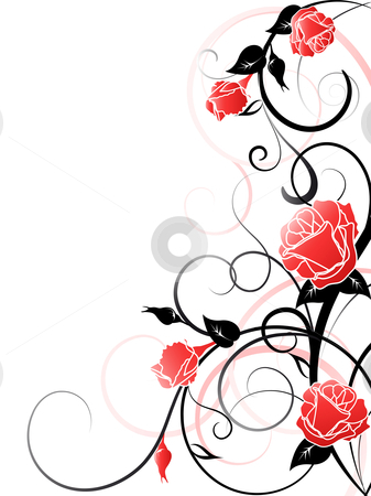  Vector Rose Background stock vector clipart, Vector Rose Background by Vitaliya Piliuhina