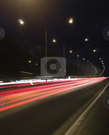 Traffic in movement stock photo, Traffic in movement by Anne-Louise Quarfoth