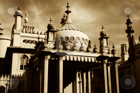 Brighton Pavilion stock photo, The fantastically ornate Royal Pavilion at Brighton, England. by Mary Lane