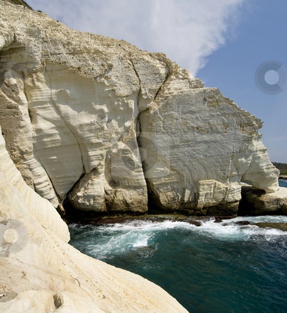 Sea Caves stock photo, The sea caves of Rosh HaNikra, northern Israel. by Mary Lane