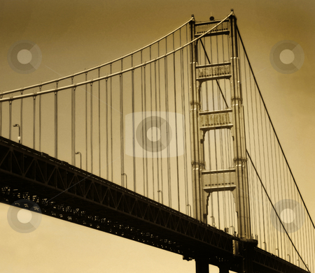 Golden Gate stock photo, Golden Gate Bridge, San Francisco, California, done in sepia. by Mary Lane