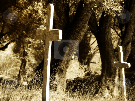 Old California stock photo, Cemetery at the historic Spanish mission of San Juan Bauptista, California. by Mary Lane
