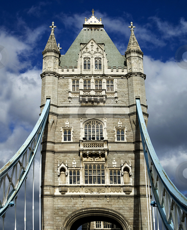 Tower Bridge stock photo, The historic Tower Bridge on the Thames, London, England. by Mary Lane