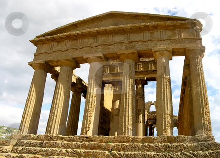 Temple of Concord stock photo, The ancient Greek Temple of Concord, Agrigento, Sicily. by Mary Lane