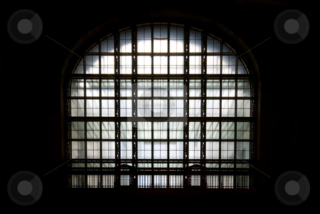 Art Deco Window stock photo, Art deco window in the main train station, Toronto, Ontario, Canada. by Mary Lane
