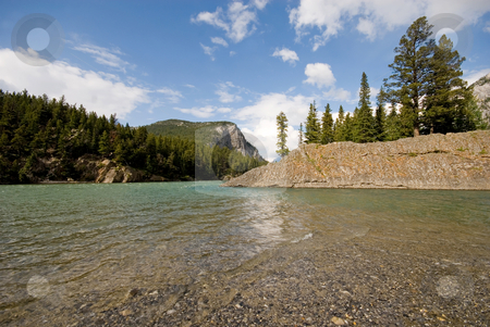 Bow River stock photo, The Bow River flowing through Banff National Park, Banff, Alberta, Canada. by Mary Lane