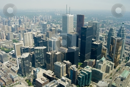 Downtown stock photo, The urban landscape of downtown TO - Toronto, Ontario, Canada. by Mary Lane