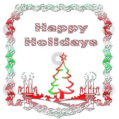 Happy Hoildays stock photo, Merry Christmas by CHERYL LAFOND
